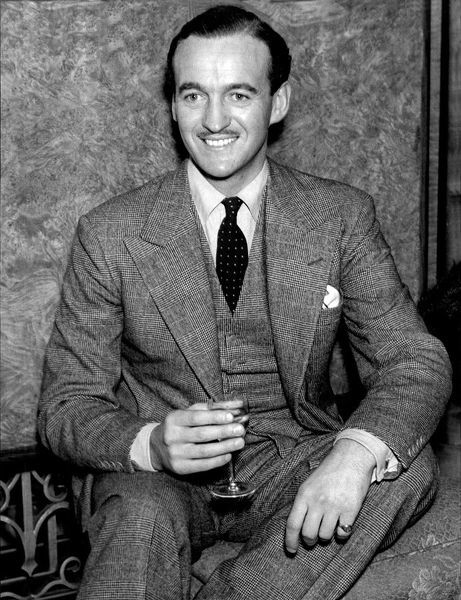 David Niven in 1939. David Niven, actor, after returning to London to re-join