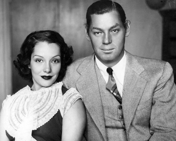Johnny Weismuller, Tarzan actor with wife, actress Lupe Velez, 1934