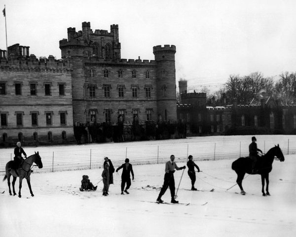 Snow at Taymouth Castle Hotel 1931