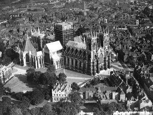 town country/aerial view york minster 1935