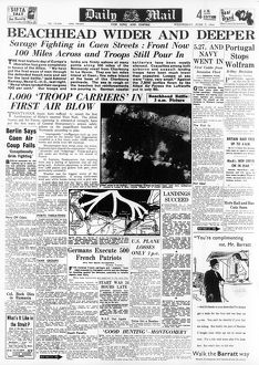 daily mail pages/d day page daily mail 7 june 1944