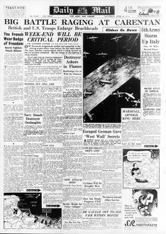 daily mail pages/daily mail page 10th june 1944 reporting progress
