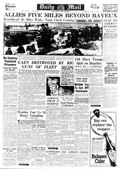 daily mail pages/daily mail page 9th june 1944 reporting progress