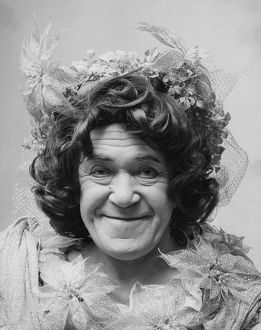 famous faces/peter butterworth actor dressed dame pantomime