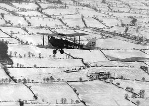 aircraft/tiger moth snow covered countryside 1927