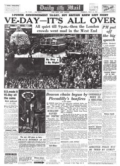 daily mail pages/ve day daily mail 8 1945